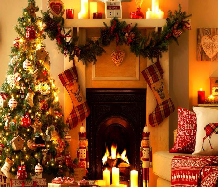 Christmas living room