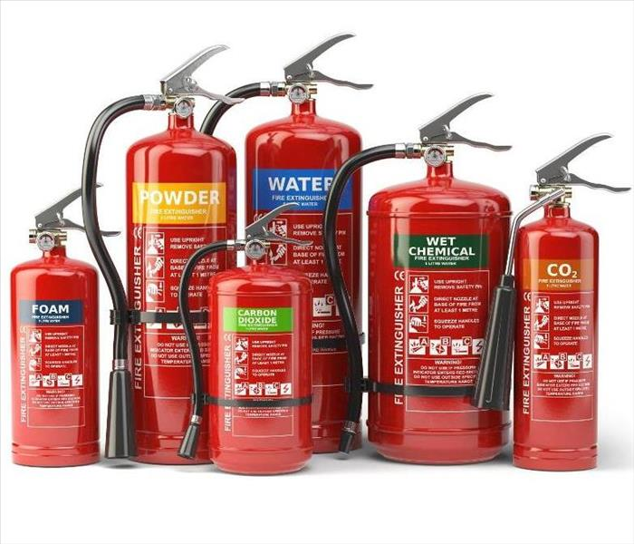 Why SERVPRO Different Types of Fire Extinguishers